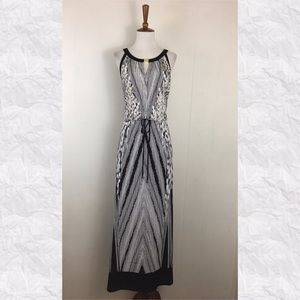 Calvin Klein Keyhole Sleeveless Maxi Dress
